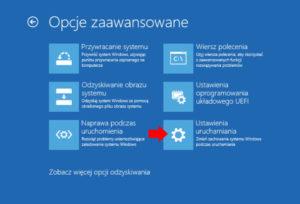 windows 10 tryb awaryjny ustawienia uruchamiania